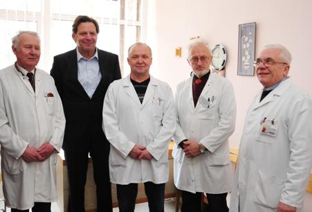Aivaras Šlekys su kolegomis