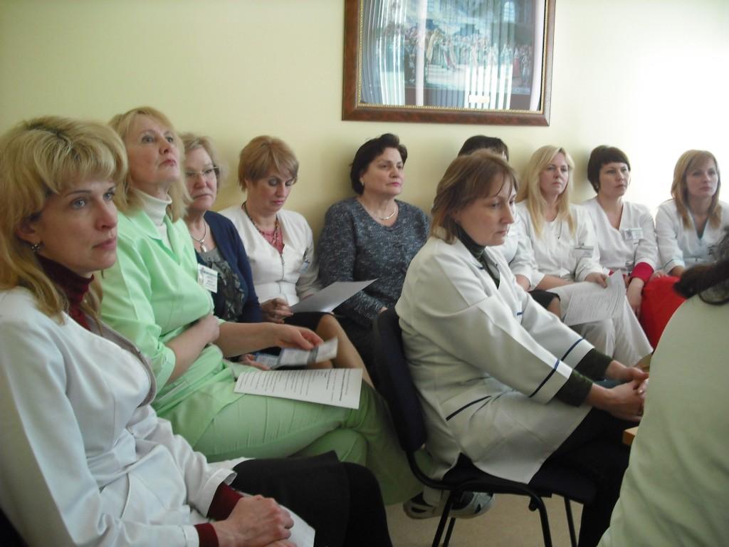 Diskusija Plungės ligoninėje (G. Privedienės nuotr.)
