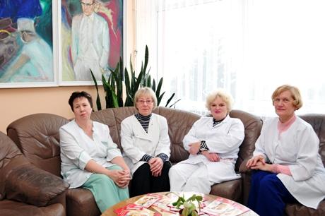 Šilalės ligoninės slaugytojos