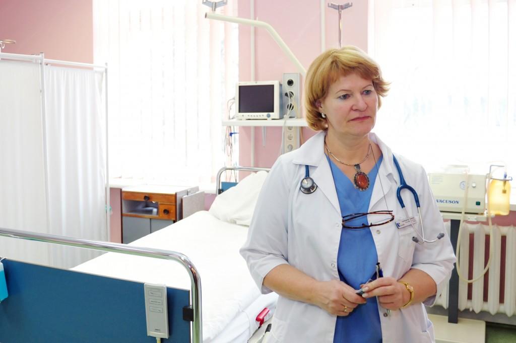 Reanimacijos ir operacinės skyriaus vedėja Audronė Pikžirnienė (A. Kubaičio nuotr.)