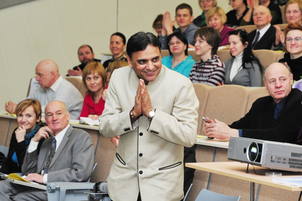 Konferencijoje dalyvavo ir geriausio Ajurvedos daktaro titulą Indijoje pelnęs dr. Partap Chauchan. A. Kubaičio nuotr.