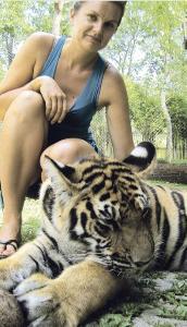 Žydrūnė Geštautaitė su tigru