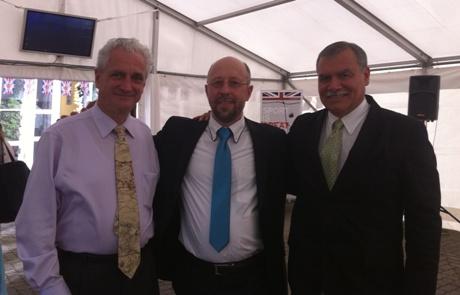 Daniel Kaufmann,  dr. Audrius Šimaitis ir Jose Ugaz