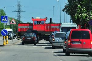 Traukinys gatvėje