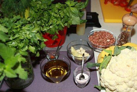 Žaliavalgiškos vakarienės ruošimas