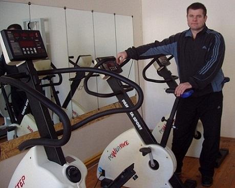 treniruoklių salė, skirta hipertenzijai gydyti