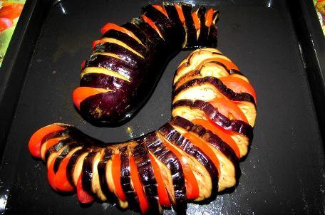 baklažanas su pomidorais