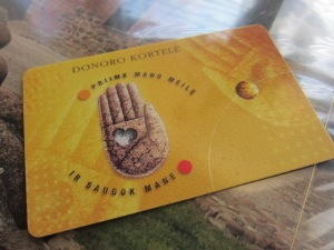 Donoro kortelė