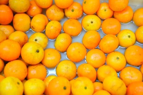 Mandarinai vandenyje