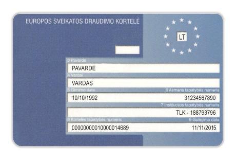 Europos sveikatos draudimo kortelė