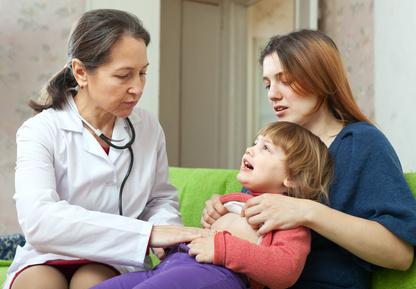 vaikas pas gydytoją