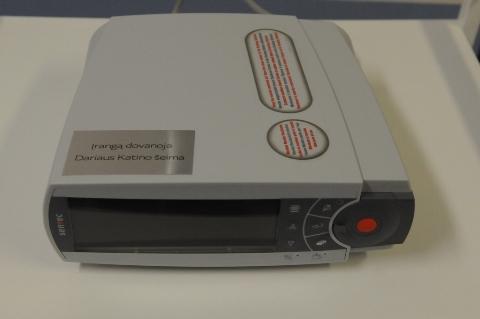 Naujagimių kvėpavimo funkcijos tyrimo aparatas