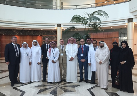 Egzaminų komisijos nariai bei Saudo Arabijos medicinos rezidentai
