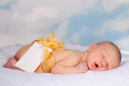 Message card from a newborn baby