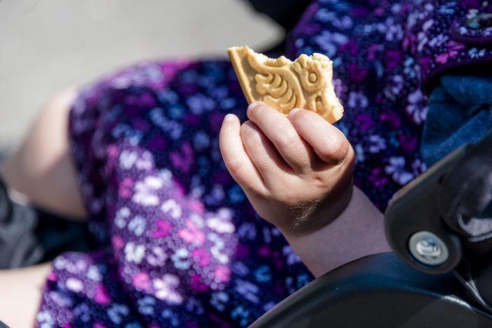 Sausainis rankoje