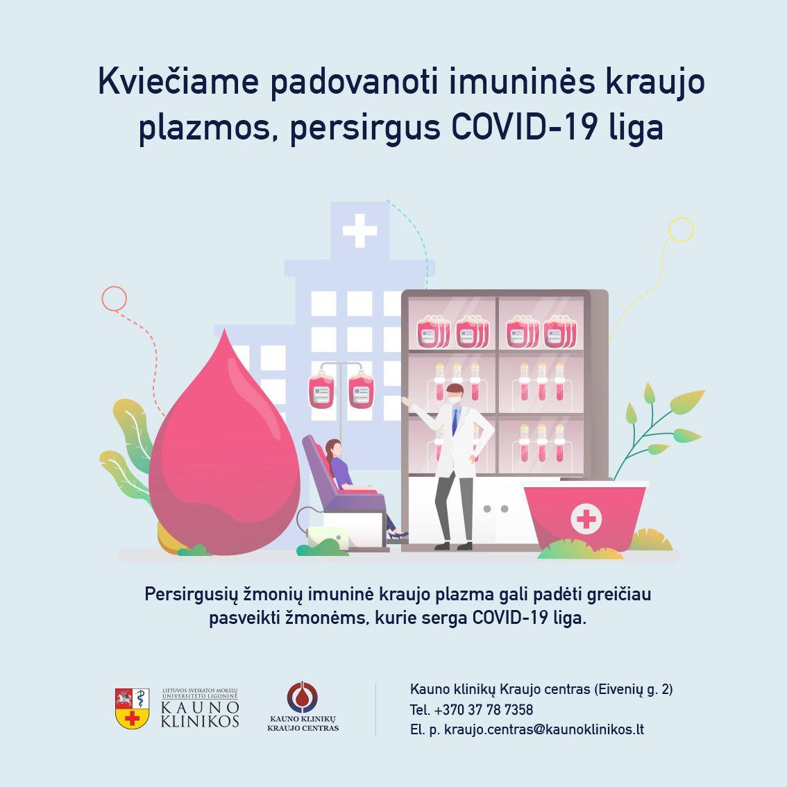 Kvietimas duoti kraujo plazmos