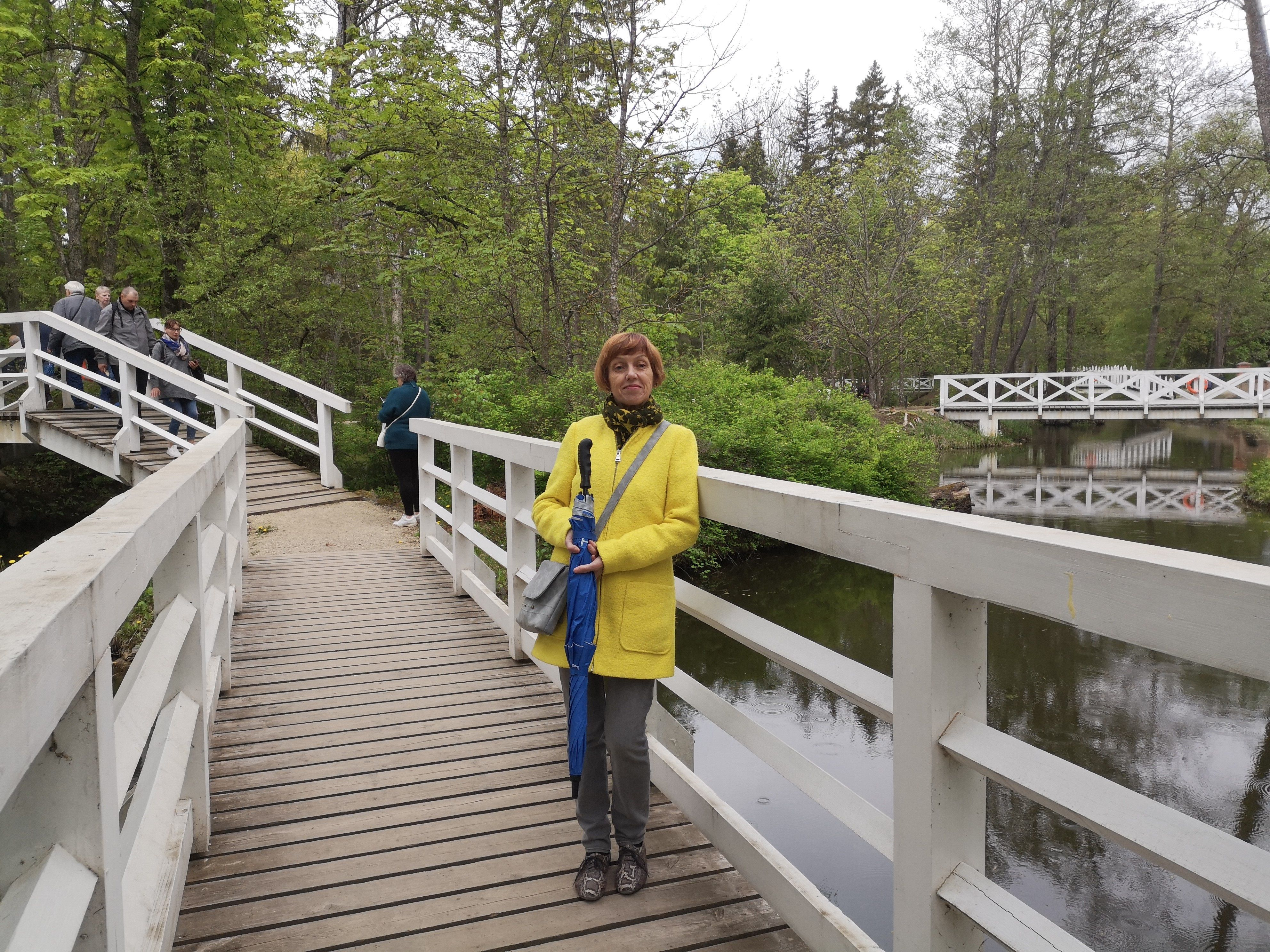 Virginija Rekštienė ant tiltelio