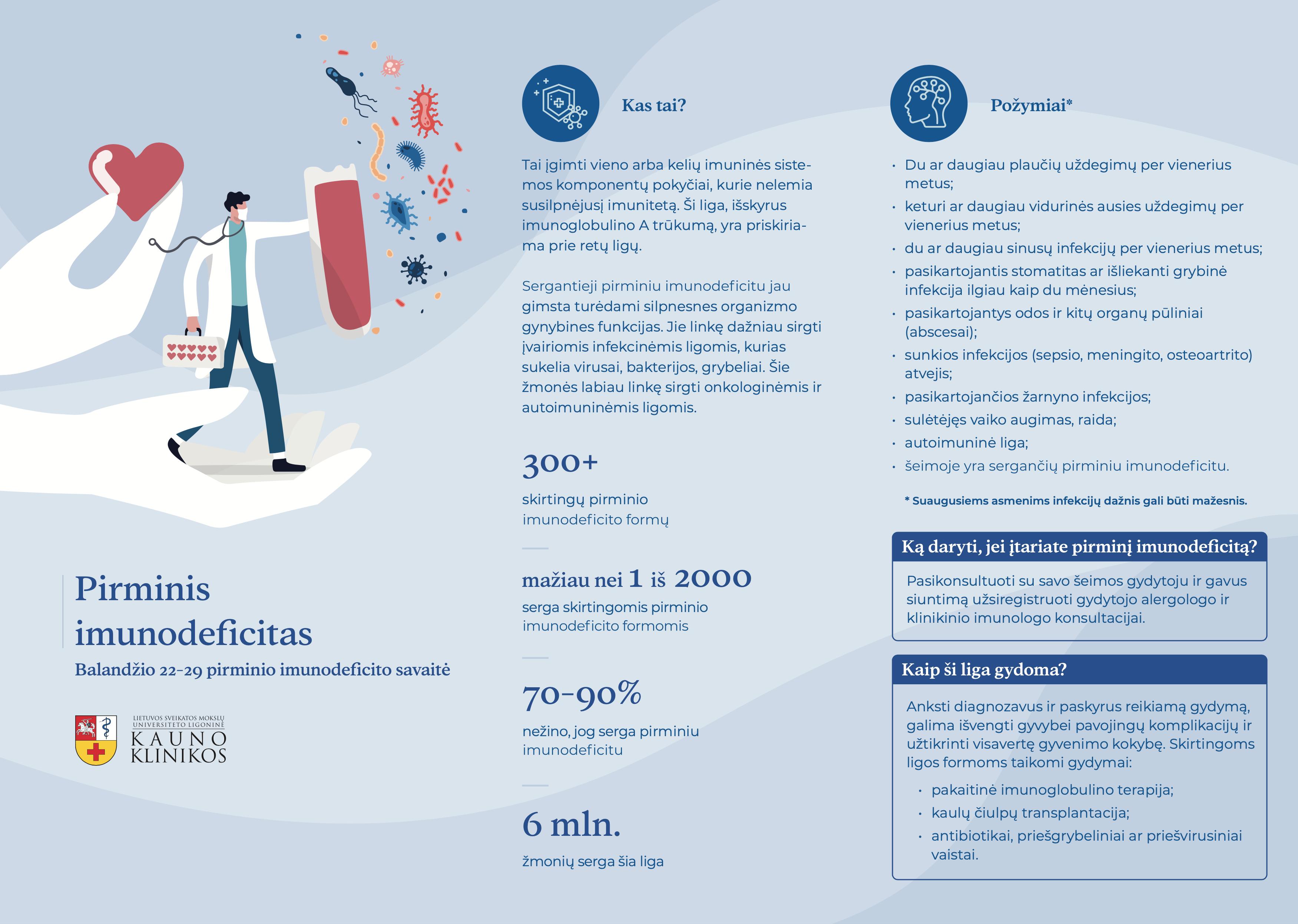 Plakatas apie imunodeficitą
