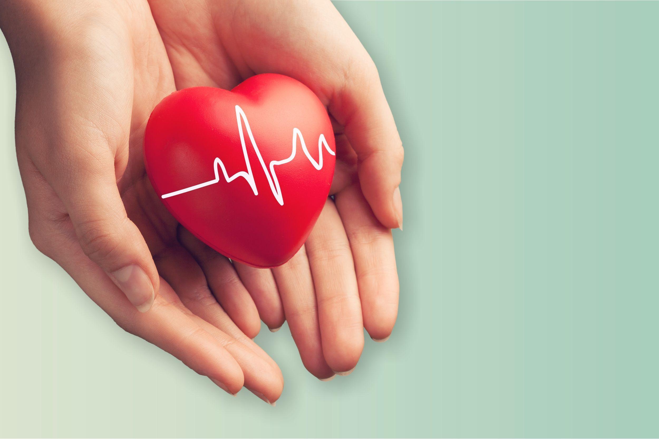 Delnuose - širdis, kardiograma