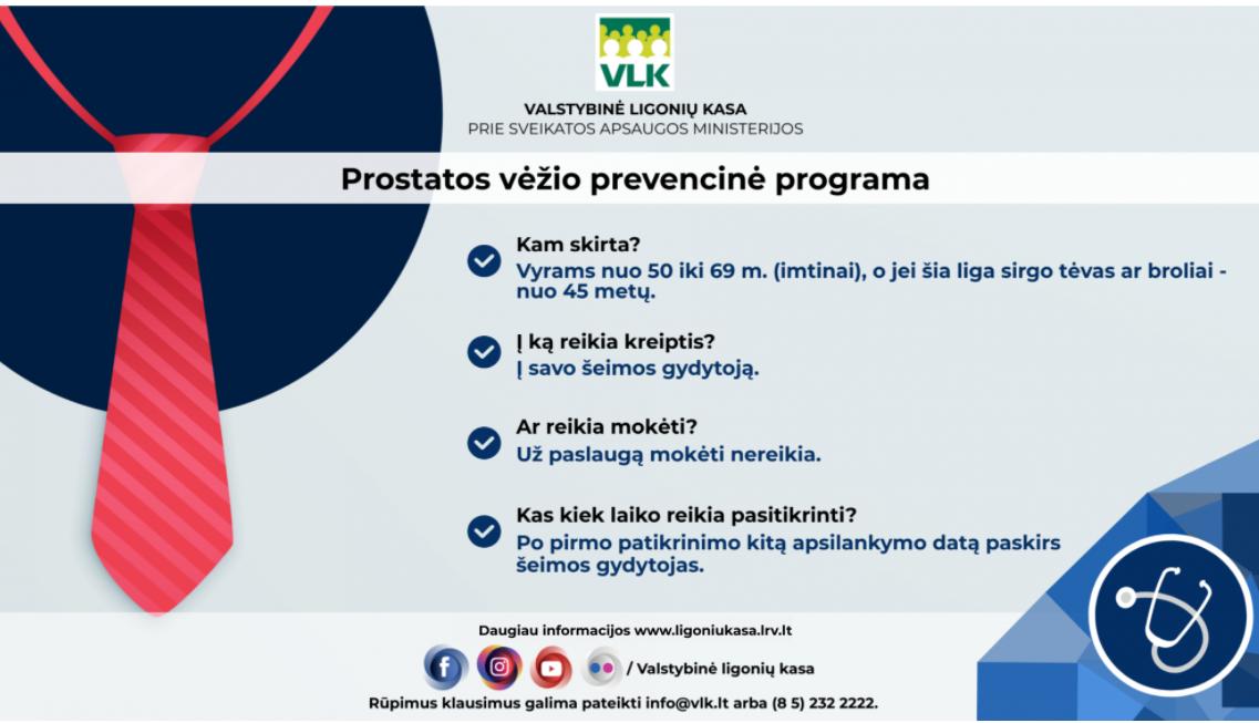 Informacija apie prostatos vėžio prevenciją