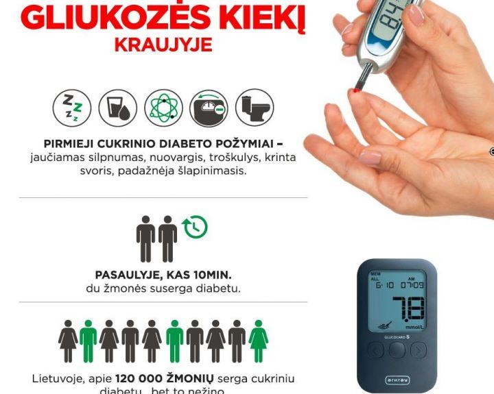 Cukrinis diabetas – ne kliūtis aktyviai gyventi